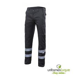 Pantalón cintas reflectantes stretch multibolsillos